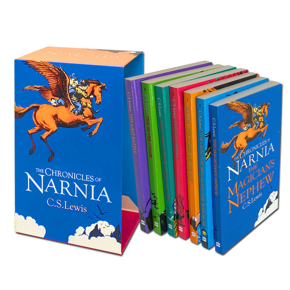 Kids/Children The Chronicles of Narnia 7 books Collection C.S. Lewis Paperback Slipcase Ages 8+ - Children Store Co.