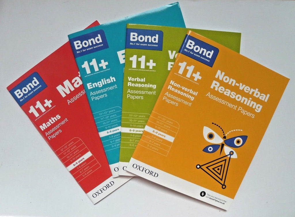 Bond 11+ English Maths Assessment Papers, Ages 8-9 Years NEW!!!