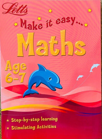Letts Make it Easy  Maths workbook ages 6-7 workbooks New!!!!! - Children Store Co.