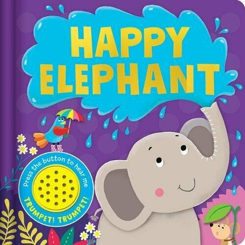 Happy Elephant Sound book Hardback - Children Store Co.