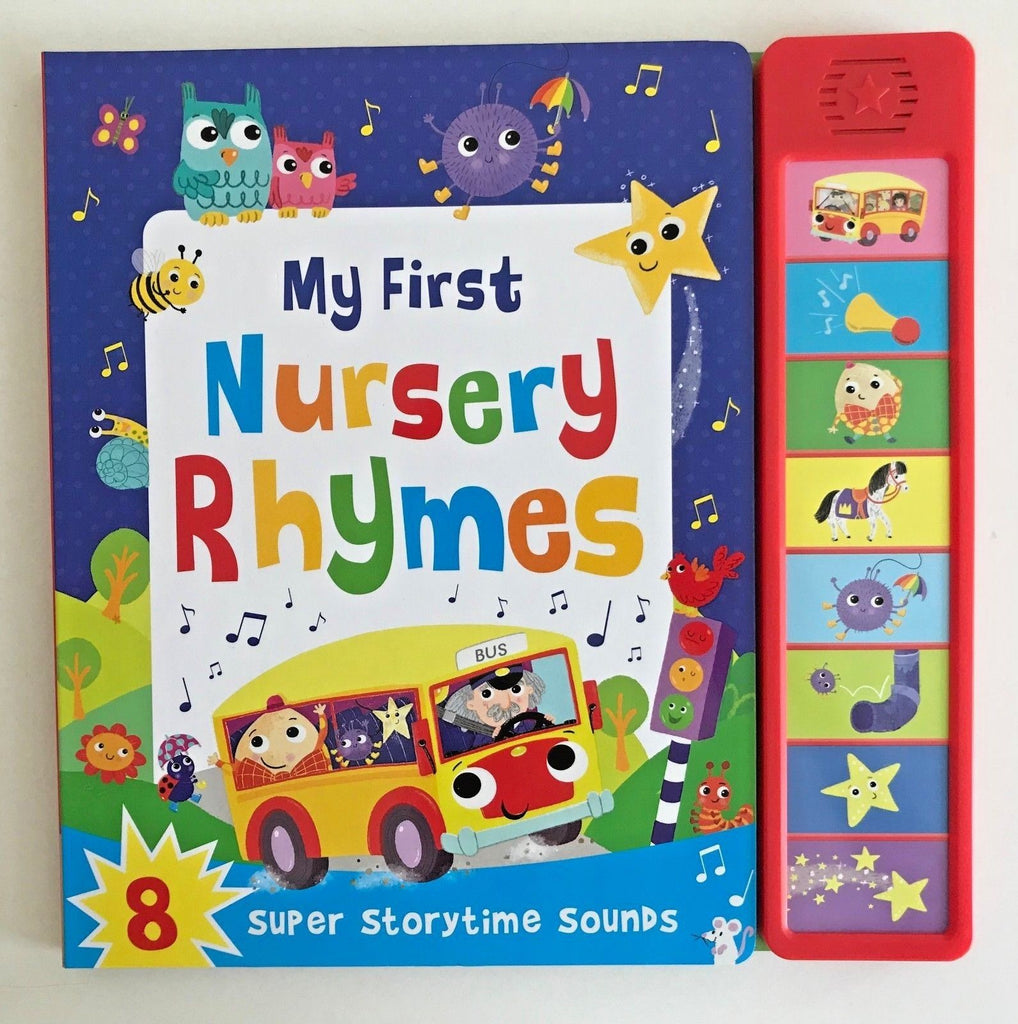 Baby / Kids First Nursery Rhymes 8 buttons Sound book NEW!!!! - Children Store Co.