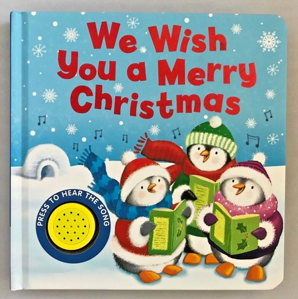 We Wish you a merry Christmas Sound book HARDBACK NEW!!!!!