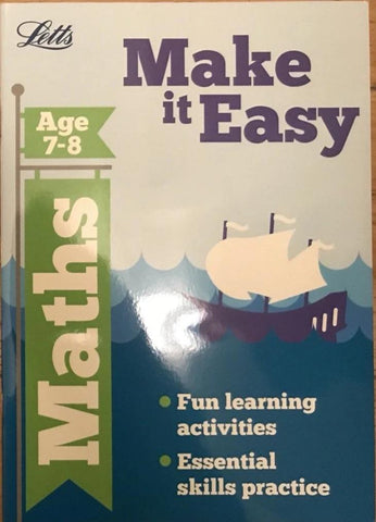 Letts Make it Easy Maths Ages 7-8 yrs workbook NEW!!!! - Children Store Co.