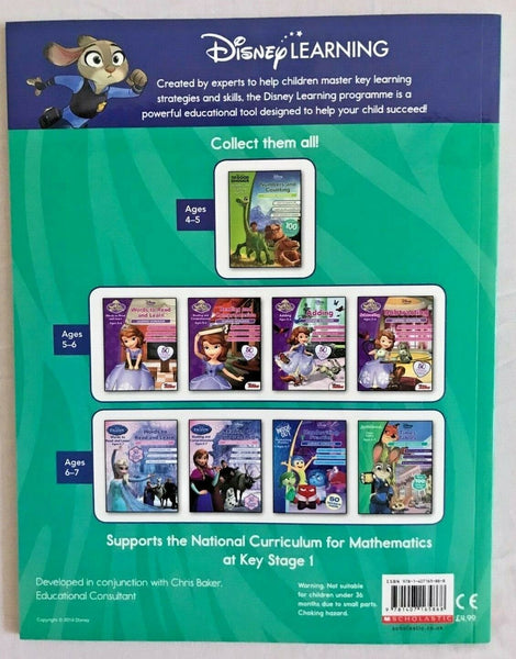 Disney Learning Zootropolis Maths Practice Workbook KS1 Ages 6-7 - Children Store Co.