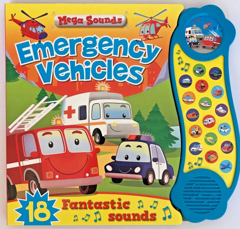 Kids/ Baby Emergency Vehicles Mega Sounds NEW!!! HARDBACK