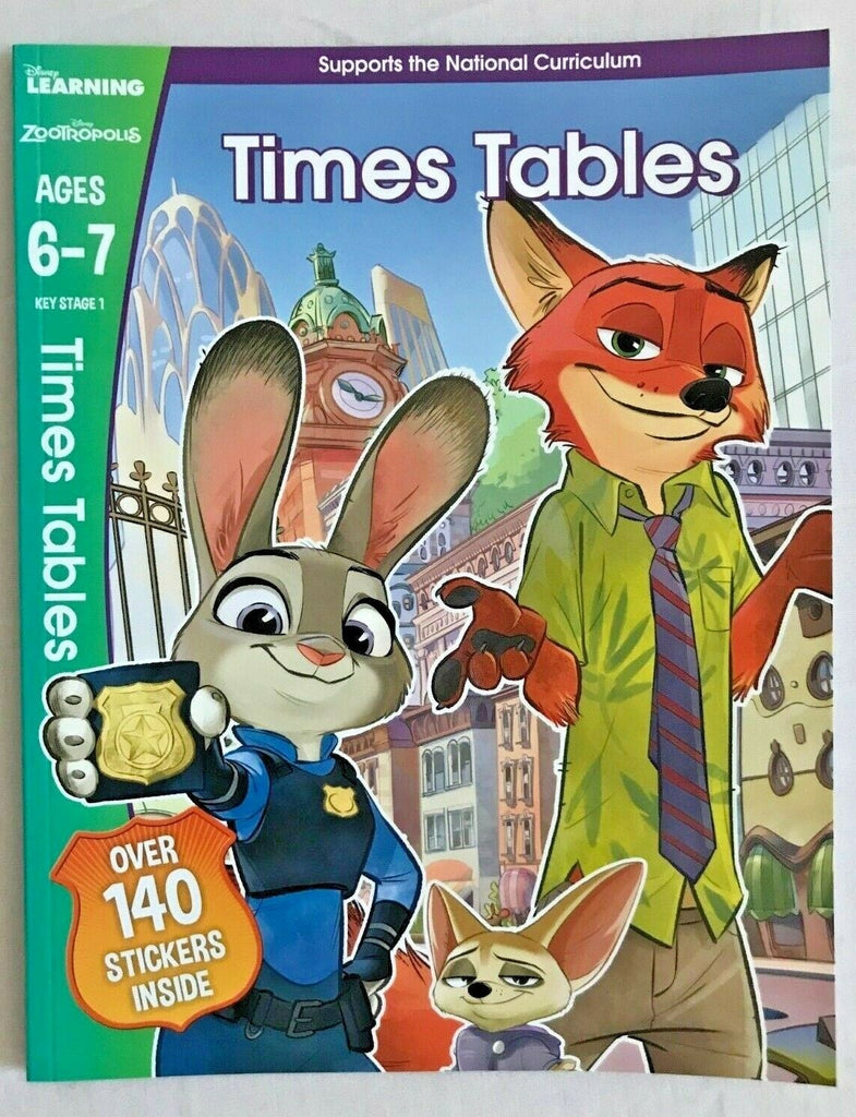 Disney Learning Zootropolis Times Tables Workbook KS1 Ages 6-7 - Children Store Co.