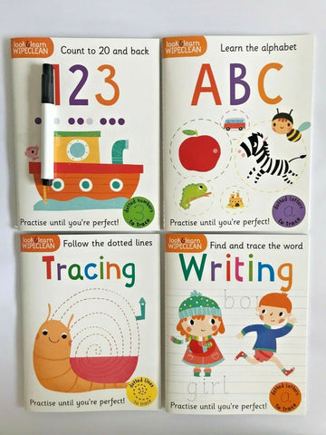 Pre School / Nursery Get Ready for School Wipe & Clean Learning books Ages 3+ - Children Store Co.