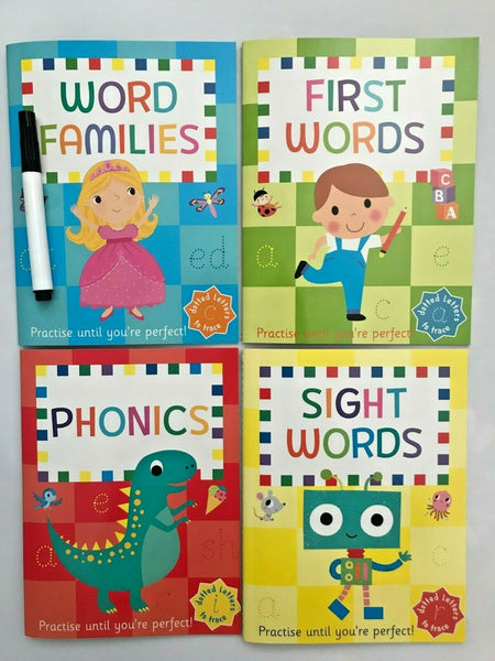 Nursery / Reception Kids Lets Learn Words Wipe clean Learning Pack Ages 3+ - Children Store Co.