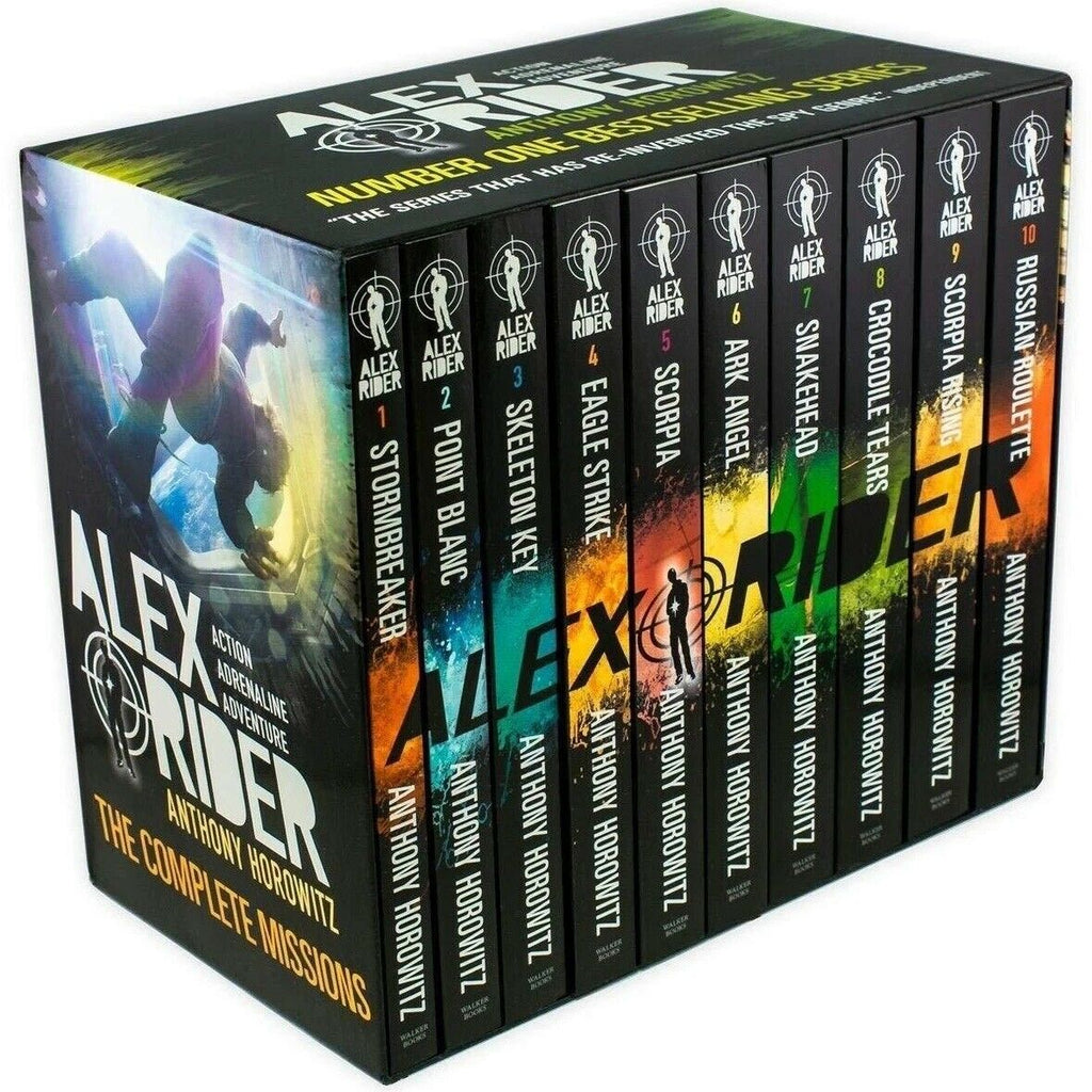 Alex Rider The Complete Missions 10 Books Box Set - Ages 9-14 - By Anthony Horowitz - Children Store Co.