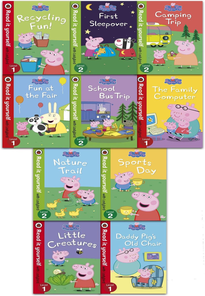 Ladybird Read It Yourself: Peppa Pig Story Collection - 12 Books (Collection) - Children Store Co.