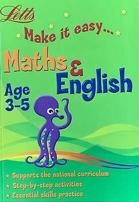 Letts Make it Easy English & Maths Ages 3-5 yrs Big workbook NEW!!!! - Children Store Co.