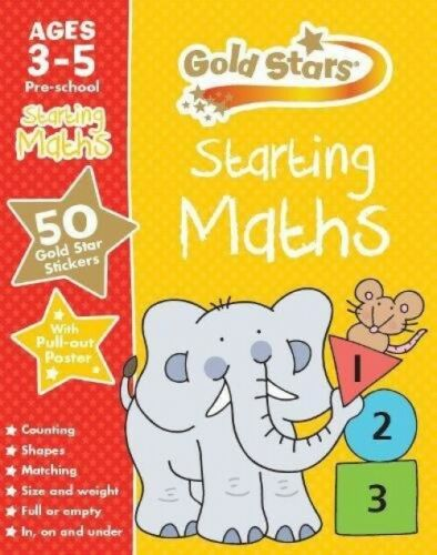Pre School Goldstars Starting Maths Paperback Ages 3-5 Brand New!!!!! - Children Store Co.