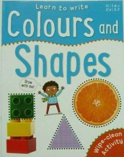 Learn to Write COLOURS and SHAPES Wipe Clean book Pen Included - Children Store Co.