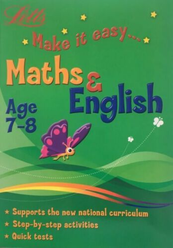 Letts Make it Easy English & Maths Ages 7-8 yrs Big Workbook NEW!!!! - Children Store Co.