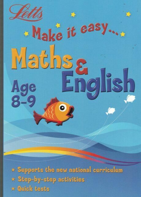 Letts Make it Easy English & Maths Ages 8-9 yrs workbook NEW!!!! - Children Store Co.