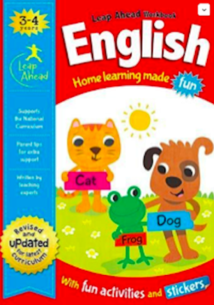 Leap ahead Maths and English ages 3-4, (2 books set) NEW!!!!