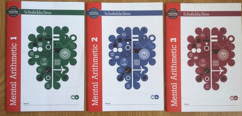 Mental Arithmetic 1,2 &3 by Schofield & Sims (Pack of 3)