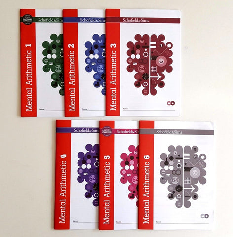 Mental Arithmetic 1,2 ,3,4,5 & 6 by Schofield & Sims (Pack of 6)