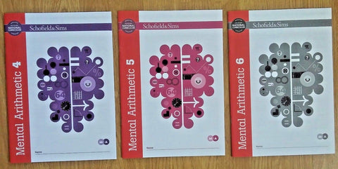 Mental Arithmetic 4,5 & 6 by Schofield & Sims (Pack of 3) - Children Store Co.