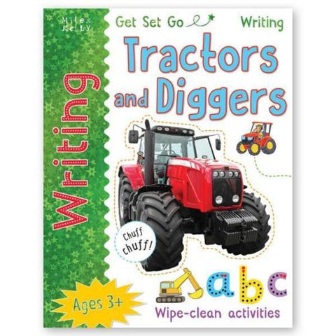 Learn to Write Tractors and Diggers (Wipe Clean book) PEN INCLUDED - Children Store Co.