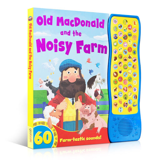 Old Mac Donald and the Noisy Farm 60 button Sound book Ages 0+ board book New!!! - Children Store Co.