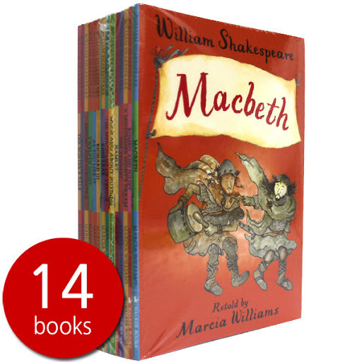 WILLIAM SHAKESPEARE RETOLD Marcia Williams 14 BOOK SET Romeo Juliet Macbeth - Children Store Co.
