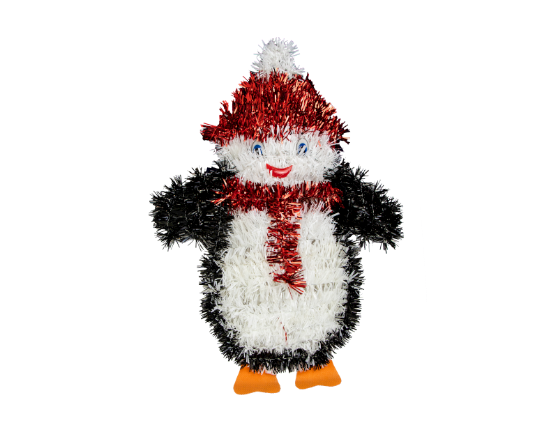 Penguin Christmas Tinsel Wall Plaque - Children Store Co.