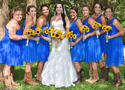 Country Western Wedding Parties – Tracie\'s Boots and Buckles