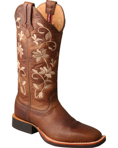 Twisted X Women's Floral Embroidered Western Boots