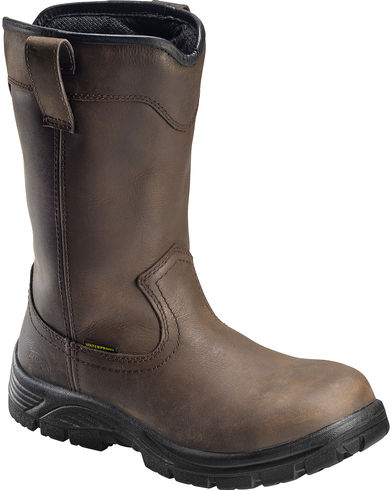 Avenger Men's Brown Waterproof Wellington Work Boots - Composition Toe