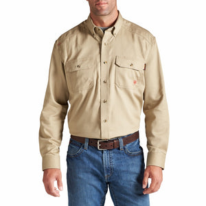 Ariat Men's Flame Resistant Solid Work Shirt Khaki - 10012251