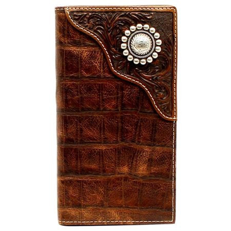 RODEO WALLET/ CHECKBOOK COVER CROCODILE PRINT