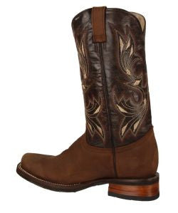 RockinLeather Men's Chocolate Crater Square Toe Western Boot
