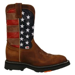 RockinLeather Mens American Flag Work Boot