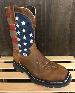 b269b7ed74c RockinLeather Mens American Flag Work Boot – Tracie s Boots and Buckles