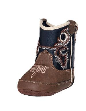 Double Barrel Western Boots Boys Trace Baby Buckers Round 4429202