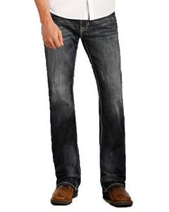 Rock and Roll Denim Pistol Regular Straight Leg Jeans M1P3473