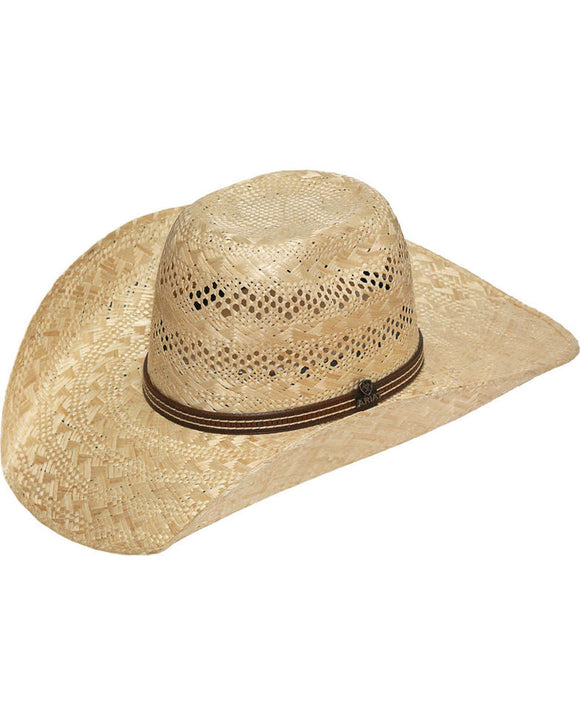 Ariat Men's Sisal Straw Punchy Cowboy Hat
