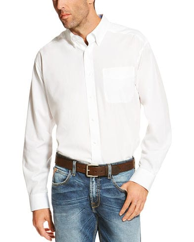 Ariat Men's White Winkle Free Button Down Shirt