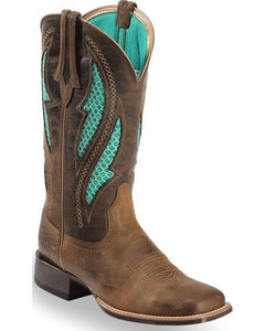 Ariat Women's VentTEK Ultra Quickdraw Cowgirl Boots Square Toe 10023146