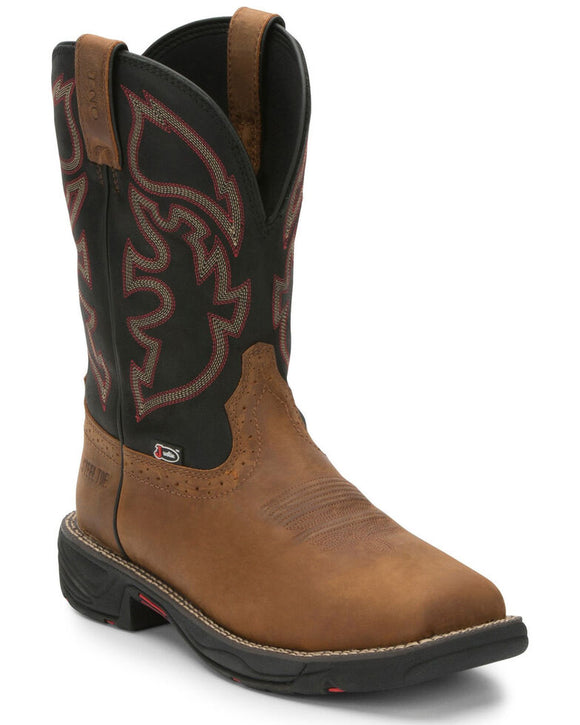 Justin Men's Stampede Rush Western Work Boots - Composite Toe