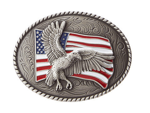 M&F Western Eagle Flag Oval Buckle