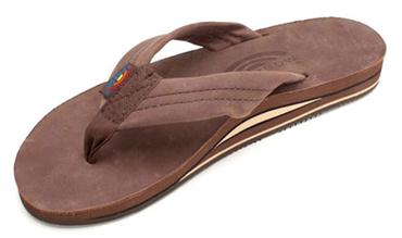 Rainbow Double Layer Ladies EXPRESSO Premier Leather with Arch Support