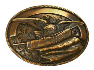Nocona Men's Copper Eagle Flag Buckle