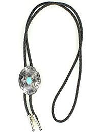 Men's Oval Turquoise Stone Bolo Tie