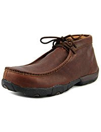 Twisted X Boots Mens Oiled Brown Composite Toe Driving Mocs