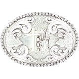 Nocona Women's Floral Etched Praying Cowboy Belt Buckle