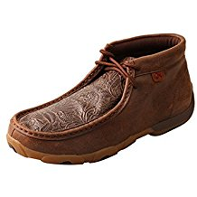 Women's Driving Moccasins – Brown/Brown Print