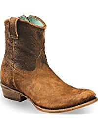 CORRAL Women's Lamb Abstract Short Boot Round Toe - C1064