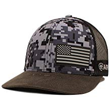 Ariat Men's Patriot Mesh Back Rubber Flag Cap, Multi/Color, One Size